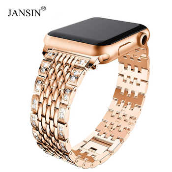 women Diamond Bracelet for Apple Watch 38mm 40mm 42mm 44mm Metal Wrist band stainless Stella strap for iWatch Series 5/4/3/2/1 - DISCOUNT ITEM  50% OFF All Category