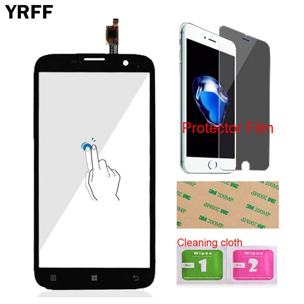 YRFF 55 Handy Fur Lenovo A850 Plus Front Touchscreen Touch Glas Digitizer Panel Sensor Werkzeuge Protector Film KlebstoffFreies Verschiffen