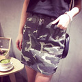 New 2017 Spring Women Camouflage Print Skirt army green faldas High waist above Knee Length Grunge Jupe Female Tutu Skirts Saia