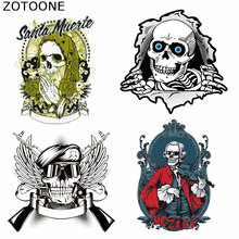 ZOTOONE Heat Transfer Patches for Clothing Fashion Cool Skull Print on T-Shirt Washable Clothes Decoration Applique D