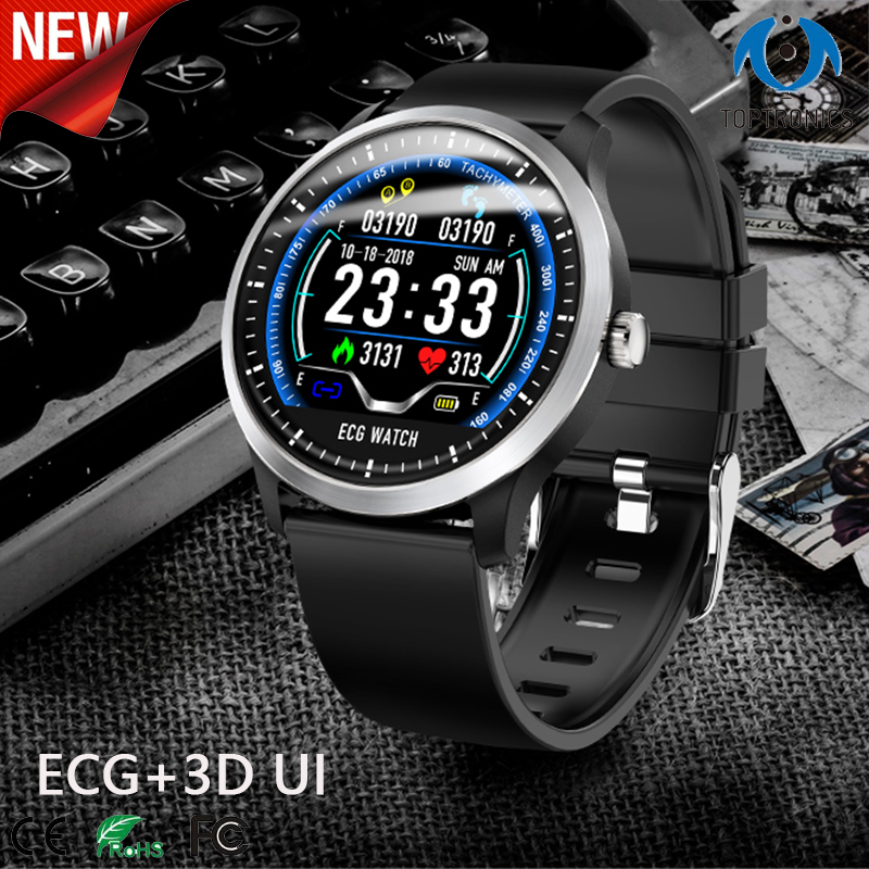 ECG smart watch with electrocardiograph ecg display heart rate monitor sleep tracker smartwatch for business holiday friend giftECG smart watch with electrocardiograph ecg display heart rate monitor sleep tracker smartwatch for business holiday friend gift