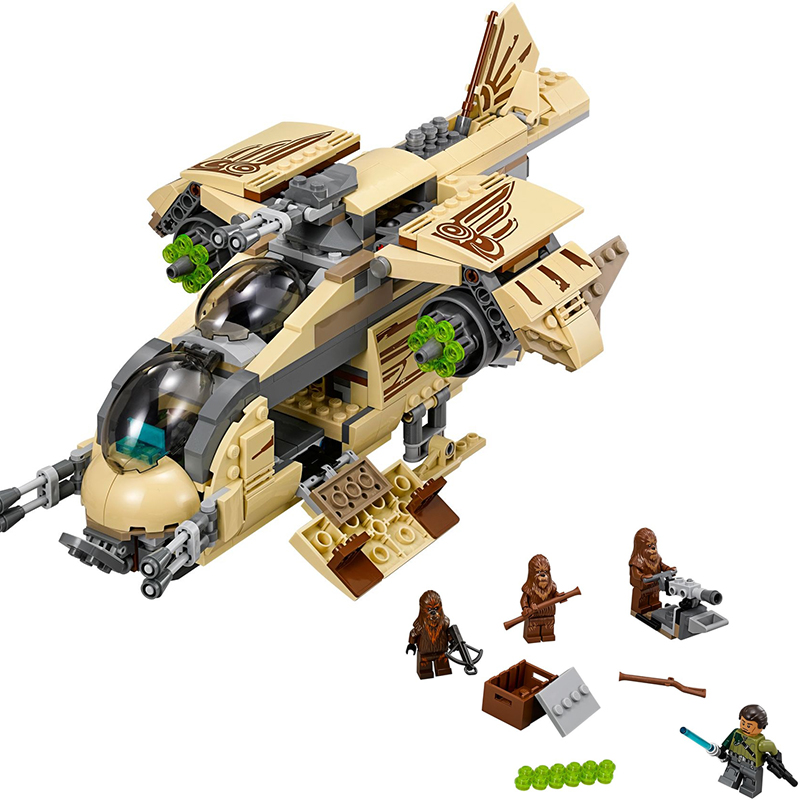 mylb New 569pcs Star Wars Wookiee Gunship Blocks Bricks Toys Set Boy Game Plane Weapon Compatible with diy new bela 10377 star wars wookiee gunship model building blocks sets wullffwarro kanan bricks