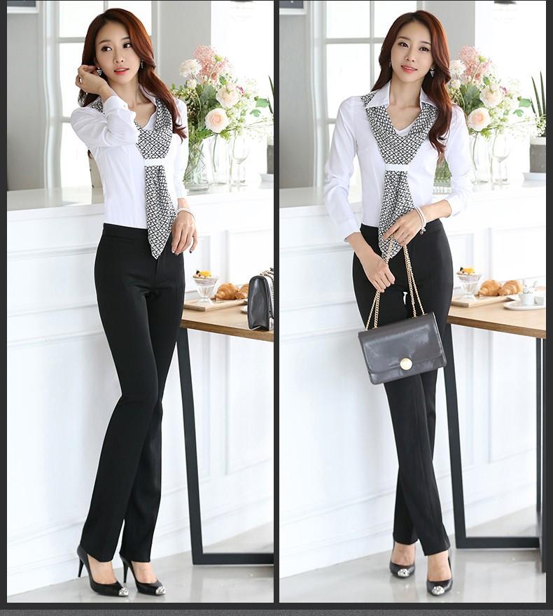 HTB18HiqJpXXXXbEXpXXq6xXFXXXV - Women's shirt slim formal scarf collar long-sleeve blouses