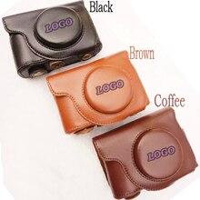 Couro camera case capa bag para olympus stylus sh-1, SH-2, SH 1, SH 2, SH1, SH2 caso câmera saco