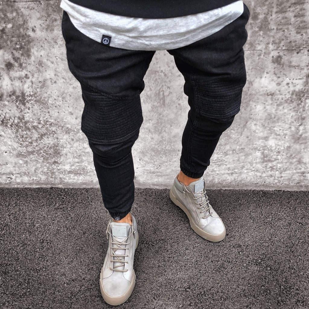 Hole Ripped   Jeans   Slim Long Pencil Pants 2018 Men's Fashion Spring Thin Skinny   Jeans   for Men Hiphop Trousers Clothes Clothing