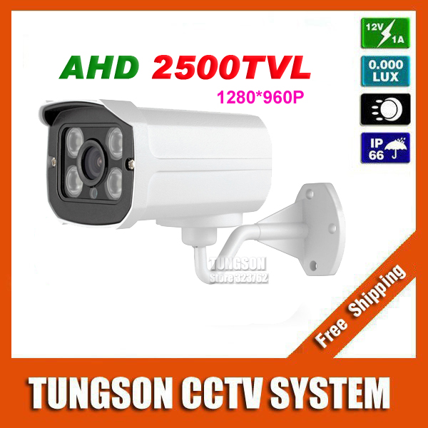 New Arrival 1280*960P AHD 2500TVL Security Mini Surveillance Outdoor Waterproof 4*Array infrared 1MP CCTV Camera Free shipping наземный высокий светильник favourite colosso 1817 1f