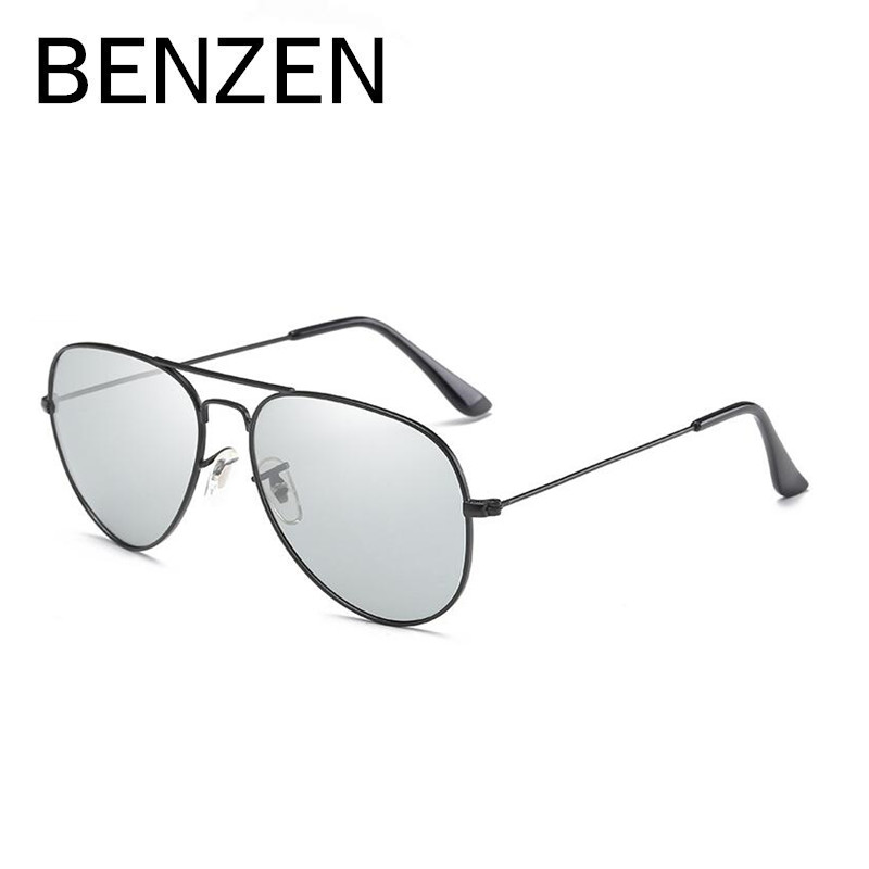 BENZEN Photochromic Sunglasses Men Vintage Avaition Male Sun Glasses Driver Driving Mirror Glasses Oculos Gafas With