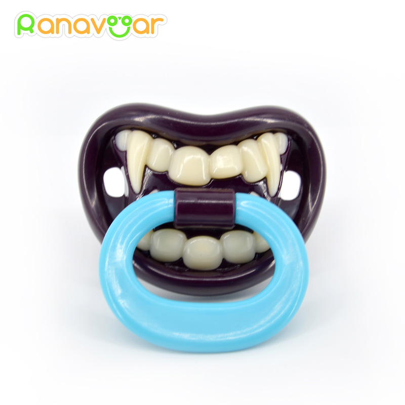 Popular Funny Dummy Dummies Pacifier Novelty Teeth Moustache Baby Soother Nipple