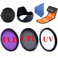 52mm 55mm 58mm 62mm 67mm 72mm 77mm UV CPL FLD Filter Kit+Lens Hood&Cap+Filter Bag&Cloth For Canon Sony Nikon DSLR Camera Filter