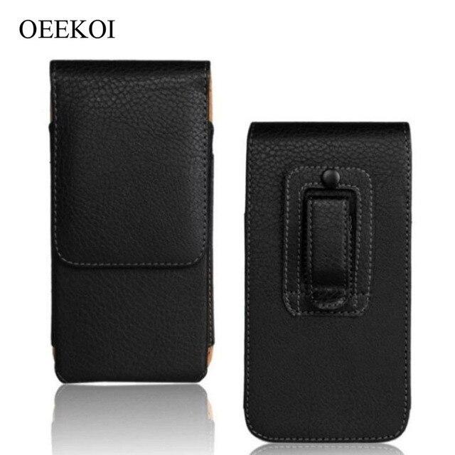 OEEKOI Belt Clip PU Leather Waist Holder Flip Pouch Case for Blackberry 9720/9790 Bold/9360 Curve/9370 Curve/9380 Curve