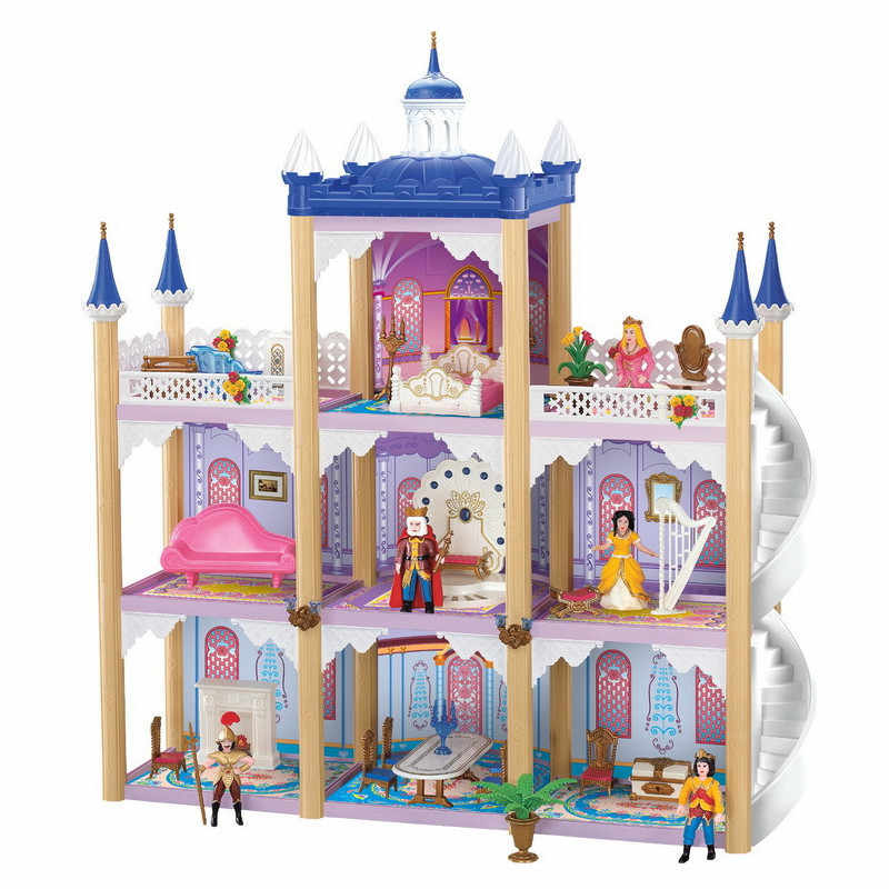 Doll Accessories Big Dollhouse Castle DIY Casa Bambole Luxury Villa Doll House Large Palace Casa De Boneca Christmas Toy Gifts