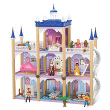 Doll Accessories Big Dollhouse Castle DIY Casa Bambole Luxury Villa Doll House Large Palace Casa De Boneca Christmas Toy Gifts(China)