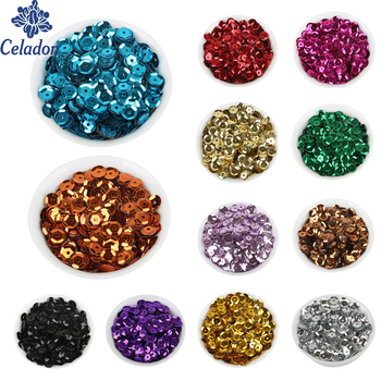 Celadon 6mm 20 g/partia (około 2000 sztuk) płatek Rainbow Cup cekiny dla domu i ślubu dekoracyjne konfetti ZL32-01SL