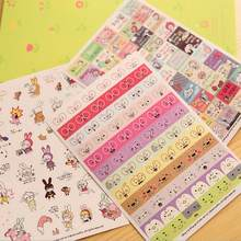 Peerless 6 Pcs/lot Korea Memo Pad Perekat Kawaii Lucu Cartoongirl Kelinci Sticker untuk Scrapbook Dekorasi Diary Stiker(China)