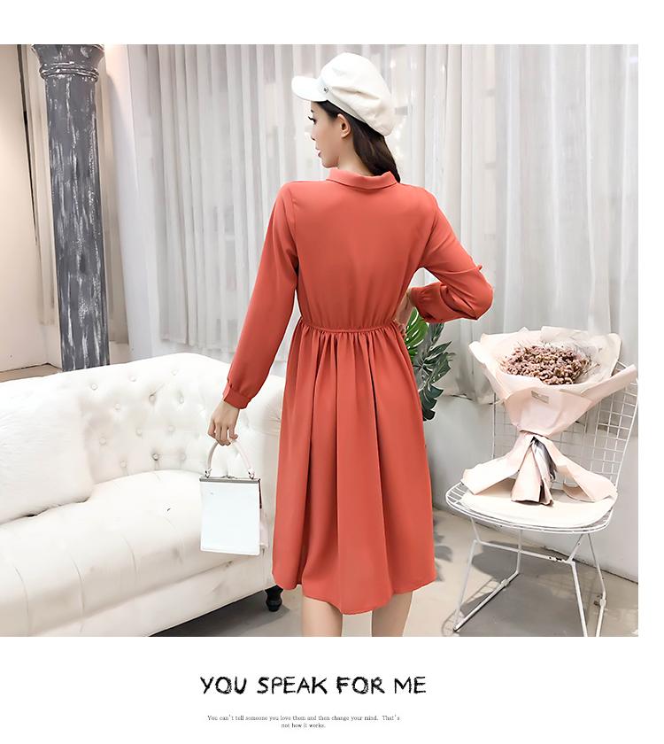 fashion bow collar women dresses party night club dress 2019 new spring long sleeve solid chiffon dress women clothing B101 23