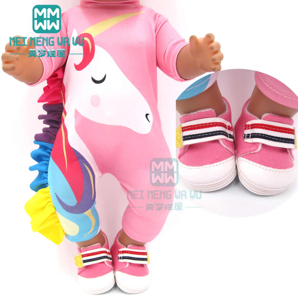 Fashion doll clothes for 43cm toy new born doll accessories and american doll unicorn outfit Swimsuit baby Shoes for doll