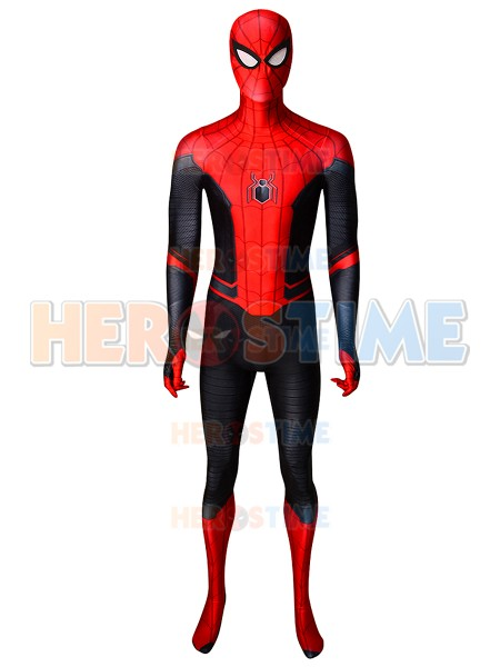 Far From Home Spiderman Costume 3d Printed spandex Peter Parker Cosplay Zentai Superhero Bodysuit Suit For