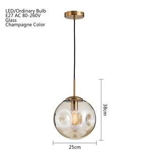 Image 2 - Moderno in vetro loft luce del pendente della sfera LED E27 Nordic lampada a sospensione con 2 colori per soggiorno camera da letto ristorante hall cucina