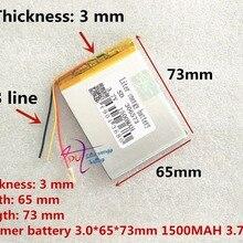 3 линии 306573 3,7 в 1500 мАч литий-полимерные LiPo ячейки питания для PAD gps Vedio игра электронная книга планшет ПК Внешний аккумулятор