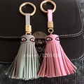 Leather Tassel Keychains Purse Bag Charm Monster Eyes unique Key chains