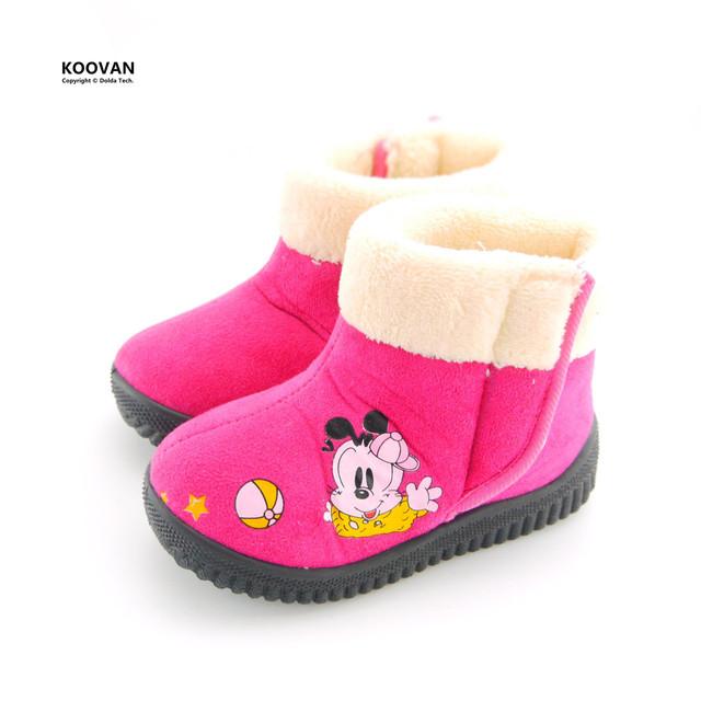 Koovan año nuevo promoción 2017 nuevos niños calientes botas de perro de dibujos animados niñas de nieve muchachas de los niños de goma botas shoes KX5135