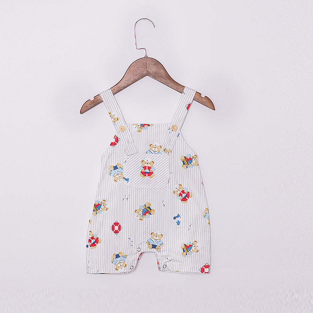 B2019002 (7)2019 Cute Bear baby boy coming home outfit summer