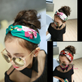new 2016 Baby headbands kids print headband girls floral  cross broadside headbands children elastic headwear  perimeter 48cm