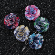Tailor Smith Top Fashion Designer Flower Lapel Pin Suit Boutonniere Stick Brooches High Quality Mens Accessories 5 Colors(China)