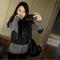 Winter And Autumn Jacket High Quality Women Parkas Winter Jackets Outwear Women Coats Knit Stitching Hoodies Casual Jacket C1215