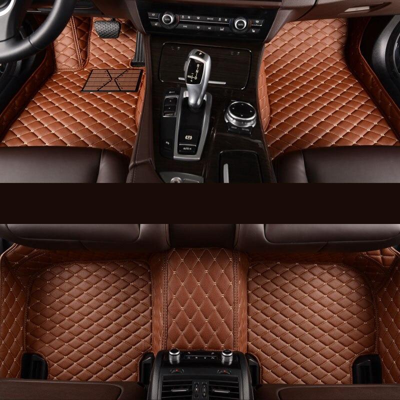 Kalaisike Personnalisé plancher de la voiture tapis pour Ford Tous Les Modèles kuga ecosportcar mondeo fiesta F-150 focus Explorer Mustang voiture accessoires