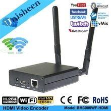 Unisheen H.264 wifi HDMI Video Encoder streaming encoder HDMI vmix Transmitter live Broadcast encoder wireless H264 iptv encoder