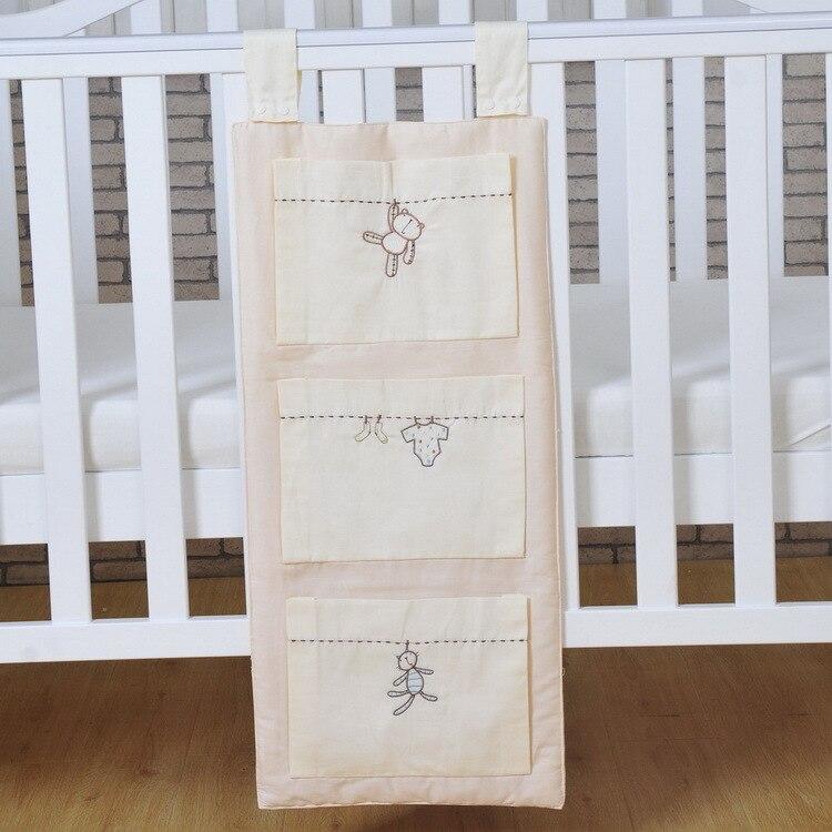 100% QualitäT Baby Bett Hängen Aufbewahrungstasche Baumwolle Neugeborenen Kinderbett Organizer Spielzeug Windel Tasche Für Krippe Bettwäsche Set Zubehör Moderate Kosten