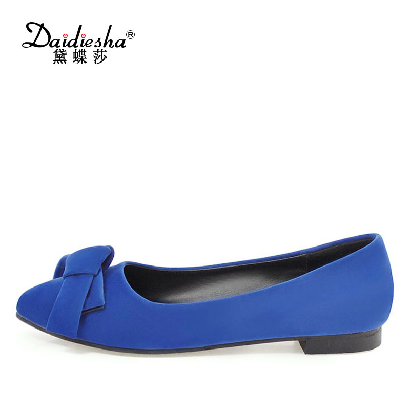 Daidiesha new Indian ladies shoes elegant Butterfly-knot Pointed toe Office Date Comfortable Slip-on women Flats sapato-feminino hot sale 2016 new fashion spring women flats black shoes ladies pointed toe slip on flat women s shoes size 33 43