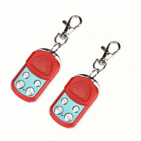 2PCS Red Universal Electric Garage Gate Door Cloning Remote Control Key Fob 433 92mhz Car Styling