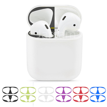 sale Metal Dust Guard sticker for Apple AirPods 2 Case Cover Dust-proof Protective Sticker Skin Protector Accessories
