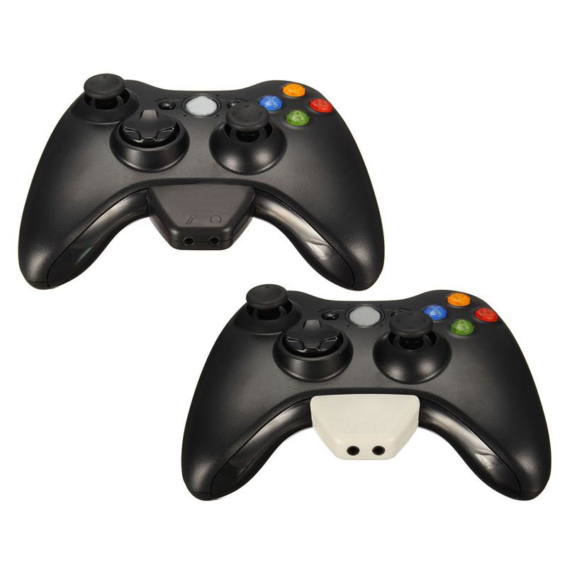 For Xbox360 Headphone Earphone Headset Adapter Converter For Microsoft for Xbox 360 Controller Game Accessories White/Black