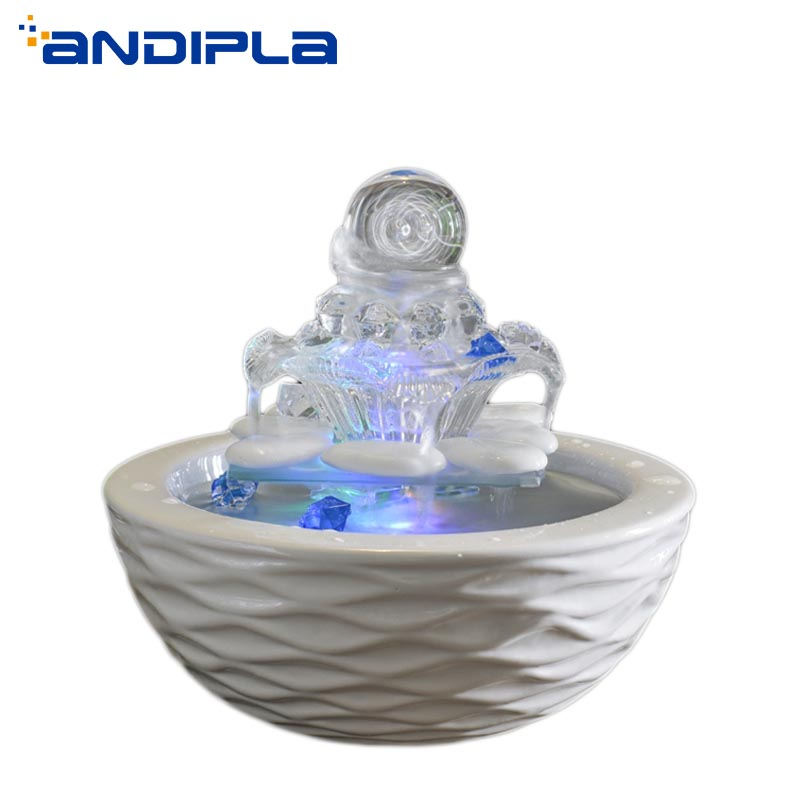 110/220V Boutique Ceramic Glass Petal Water Fountain Crystal Ball Humidifier Office Living Room Desktop Decor Wedding Decoration110/220V Boutique Ceramic Glass Petal Water Fountain Crystal Ball Humidifier Office Living Room Desktop Decor Wedding Decoration