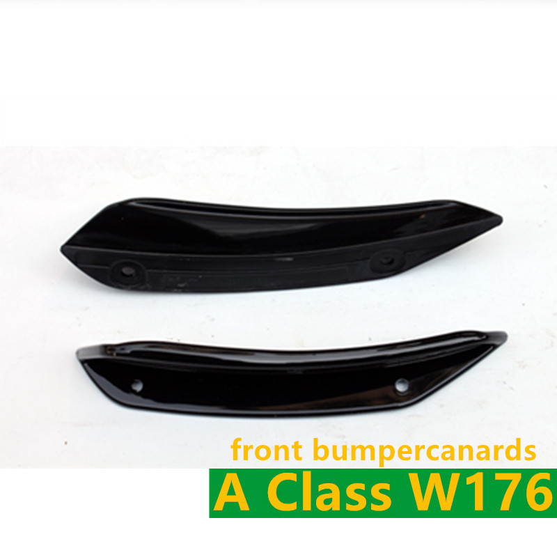 Carbon Fiber Rear Bumper Canards ABS Front Bumper Canards 8 Pieces Set LCI A45 AMG Style for Mercedes A Class W176 LCI in Bumpers from Automobiles Motorcycles