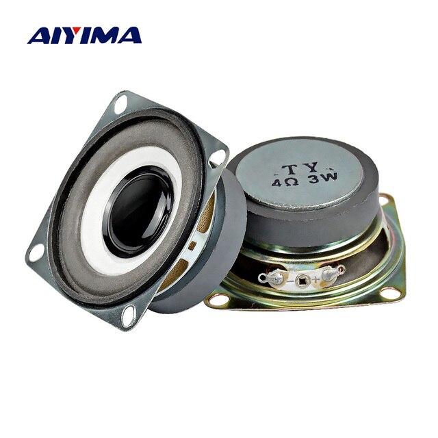 AIYIMA 2 piezas 2,5 pulgadas Audio altavoces portátiles 4Ohm 3 W 40 Tweeter magnética altavoz DIY música Parlante Bluetooth altavoz