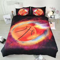 Meteor basketball Digital print Bedding Set Quilt Cover Design Bed Set Bohemian a Mini Van Bedclothes 3pcs JF556