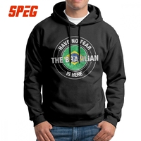 Have No Fear The Brazilian Is Heres Brazil Men's Hooded Sweatshirts 100% Cotton Novelty Hoodie Printed Pullovers