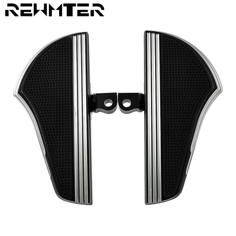 CNC Motorcybike Passenger Defiance Floorboards Male Mount Foot Pegs Black And Chrome For Harley Sportster XL Dyna Touring FLHXCNC Motorcybike Passenger Defiance Floorboards Male Mount Foot Pegs Black And Chrome For Harley Sportster XL Dyna Touring FLHX
