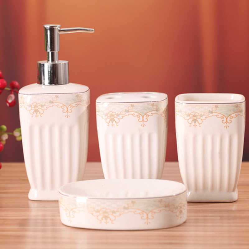 Q-ITAS2201 Brand direct palace style noble and elegant exquisite pattern bathroom four sets of creative home sanitary wares suit