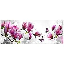 126X47 cm 5D diamant malerei magnolia blume DMC 447 farbe diamant stickerei fühlte diy diamant mosaik für zuhause dekoration
