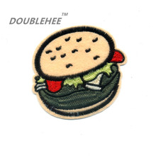 DOUBLEHEE 7.6cm*7.1cm Embroidered Iron On Patches Fashion Hamburg Design Motif T-shirt Bags Applique Accessories Lovely Style lovely shoes applique t shirt