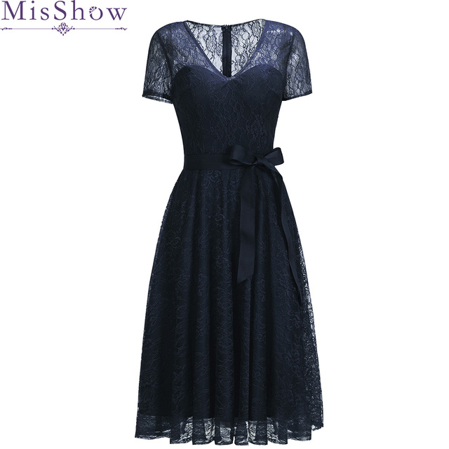 e0e62991c5a7 2019 Sexy Short Evening Dress Lace Navy Blue Burgundy Party Formal Dress  Homecoming Graduation Dresses With