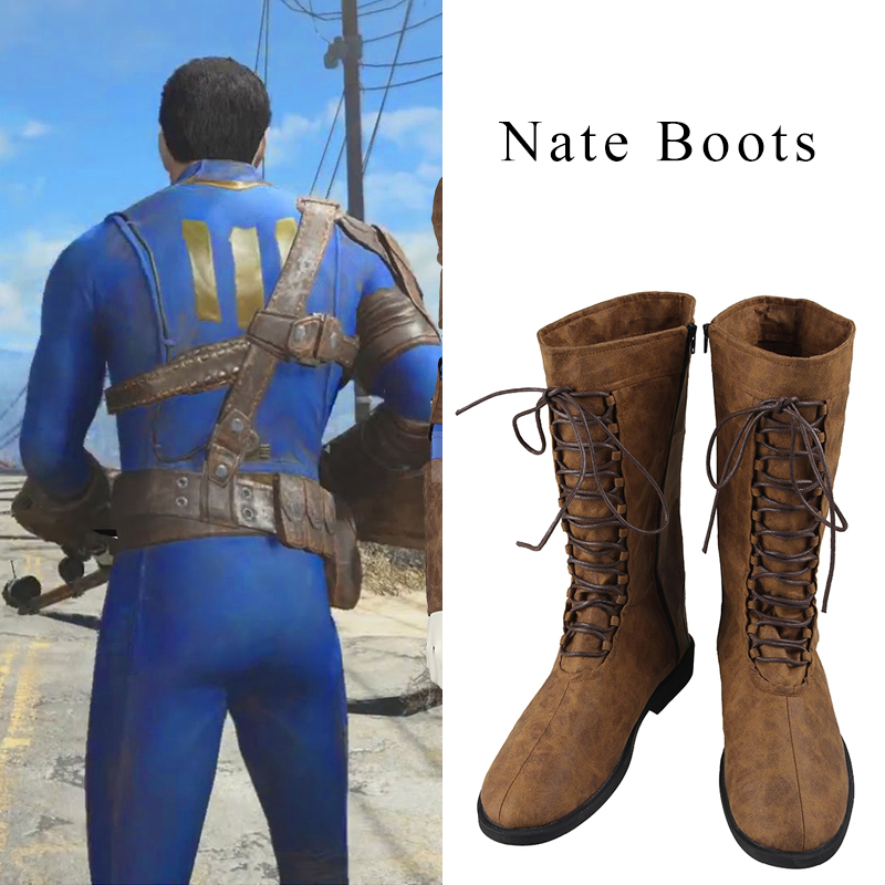 Fallout 4 Nate Cosplay Boots Nate Cosplay Shoes Game Accessories Battle Shoes Adult Men Cosplay Male