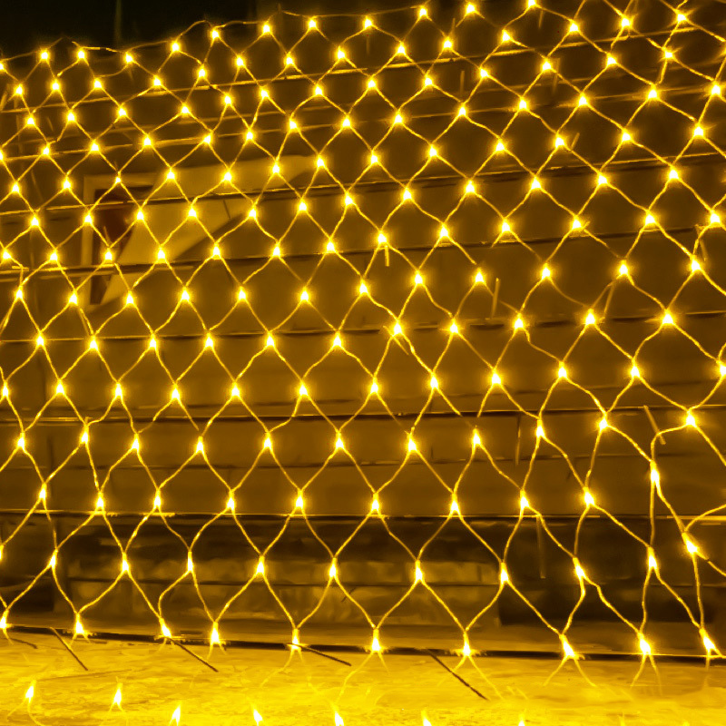 BEIAIDI Christmas Mesh Net Led String Light 2x2m 3x2m 6x4m Outdoor Patio Garden Wedding Window Curtain Net LED String Garland