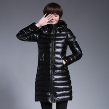 купить Women Ultra Light Down Jacket 2019 New Autumn Winter Warm 90% White Duck Down Parkas Long Hooded Lightweight Simple Coat PJ335 дешево