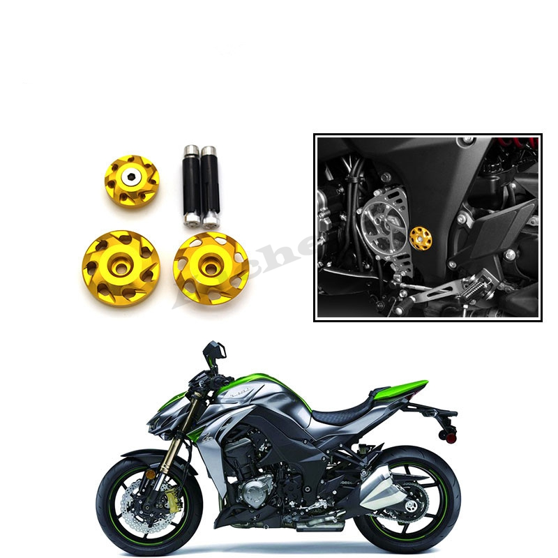 For kawasaki <font><b>Z1000</b></font> Z 1000 2010-2014 <font><b>2015</b></font> 2016 2017 2018 2019 CNC Motorcycle Fairing Bolts Frame Hole Caps Screws with logo <font><b>Z1000</b></font> image